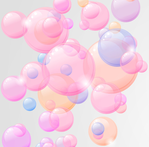 illustration of ascending bubbles